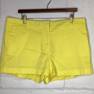J Crew Chino Yellow Shorts Size 16